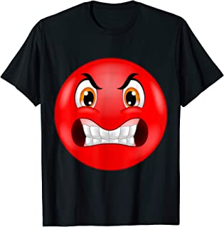Red Angry Face Emoji I am angry Don't talk to me Funny Gift T-Shirt