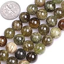 GEM-inside Natural 10mm Green Tsavorite Gemstone Loose Beads Handmade Beads for Women Jewelry Making
