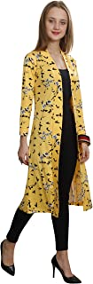 SWEEKASH Women's Floral Print Cotton 3/4th Sleeve Knee Length Shrug