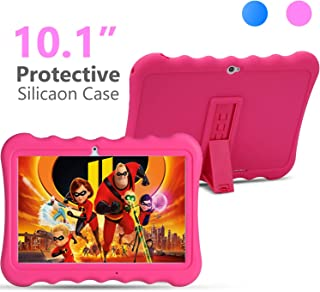 Kids Tablet PC 10 inch 3G GSM IPS 1280800 5.0M Rear and 2.0M Front Cameras Dual SIM Card Slots 1GB RAM 16GB Storage Quad-core 1.3GHZ Cortex-A7 with Shockproof Silicon Case for Kids (Pink)