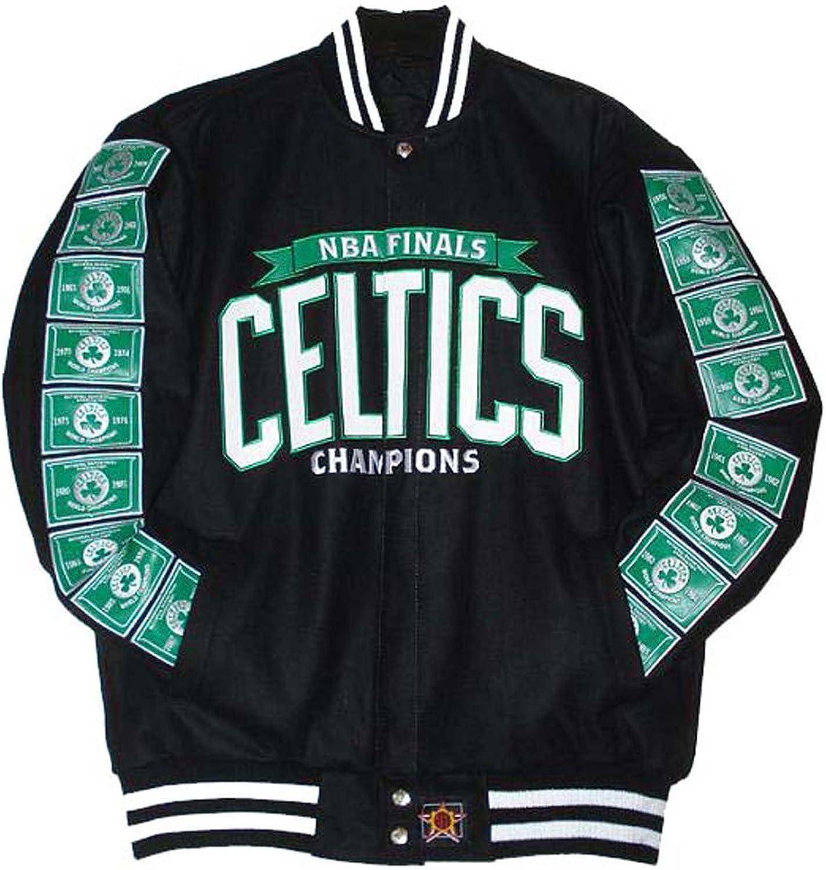 Boston Celtics Commemorative Jacket  Wool & Nylon Reversible Size Medium