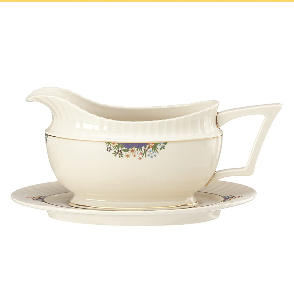 Lenox Rutledge Sauce Boat and Stand, Ivory
