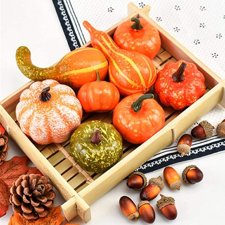 Lamptti Artificial Autumn Gourds Mini Manufacturer OFFicial shop Lea Pine Pumpkins Cones New Orleans Mall