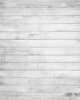 AOFOTO 4x5ft Wooden Grain Photography Backdrop White Wood Plank Backdground Hardwood Floor Kid Baby Newborn Girl Boy Portrait Photo Studio Props for Flat Lays Close Up Photoshoot Products Online Store