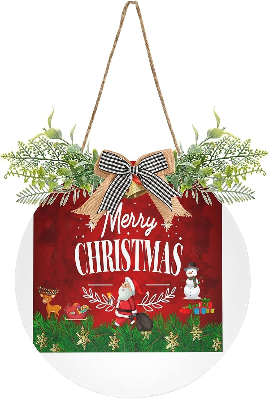 Christmas Santa Claus Snowflake Door Hanging Winter Branded goods Sign Po Albuquerque Mall