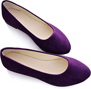 4d27dfd61ff Stunner Women Cute Slip-On Ballet Shoes Soft Solid Classic Pointed Toe Flats