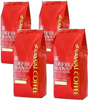澤井珈琲 コーヒー 専門店 アイスコーヒー 水出しコーヒー用 コーヒー豆 4種類 セット 2kg (500g x 4) 200杯分 超大入り 【 店長のおすすめ挽き(中細挽き) 】