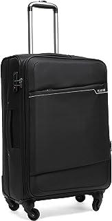 クロース(Kroeus)スーツケース ソフトキャリー 超軽量 容量拡張機能 TSAロック搭載 S型機内持込可 日本語取扱説明書 1年保証