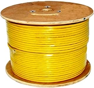 Vertical Cable Cat6, 550 MHz, Shielded, 23AWG, Solid Bare Copper, 1000ft, Yellow, Bulk Ethernet Cable
