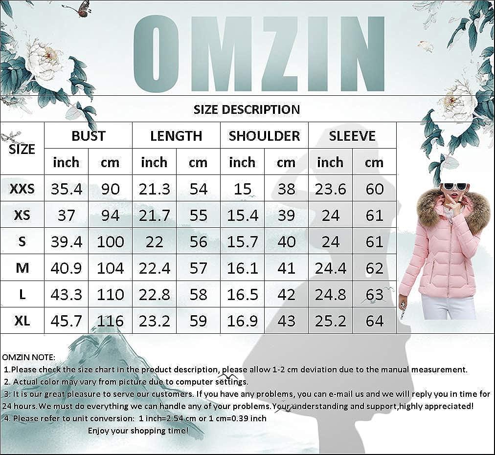 OMZIN Steppjacke Damen Übergangsjacke Lang Winter mit Kapuze Warm Dicke Gesteppt Mantel Steppmantel Wintermantel Blau-2