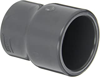 Spears 429-G Series PVC Pipe Fitting, Coupling, Schedule 40, Gray, 1-1/2