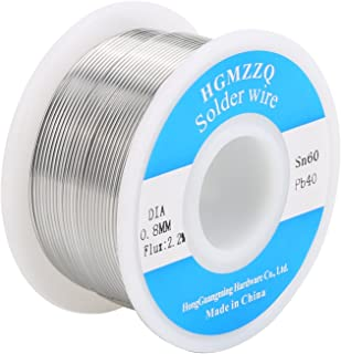 HGMZZQ 60/40 Tin Lead Solder Wire with Rosin for Electrical Soldering 0.031 inch(
