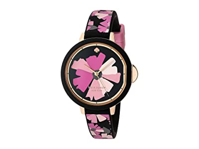Kate Spade New York Park Row Flower Silicone Watch KSW1582 (Pink) Watches