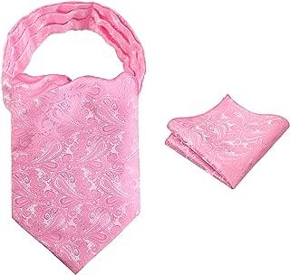 Mens Self-tied Cravat Tie Ascot and Pocket Square Set