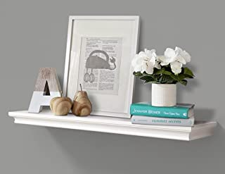 AHDECOR White Deep Floating Shelves Display Ledge Shelf with Invisible Blanket 36""