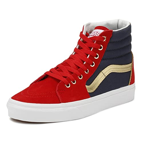 62842d74aeb4 Vans SK8 Hi Marvel Captain Marvel Skate Shoes Size Men 4 Women 5.5
