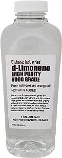 Blubonic Food Grade d-Limonene HP (Highest Purity) Orange Oil, Solvent, Medicinal, Cleaner, Degreaser, dLimonene (Gallon)
