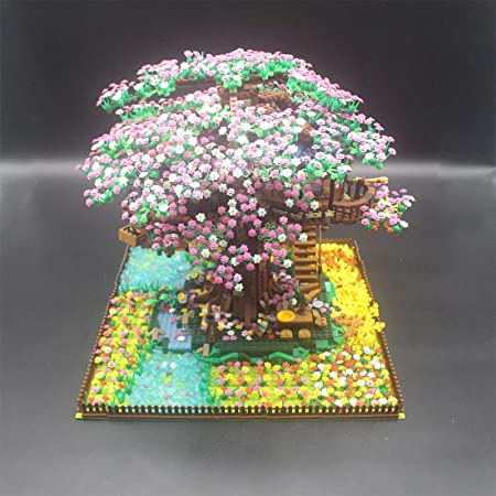 12che Diy Cherry Blossoms Extension Pack For Lego Tree House 21318 No Lego Kit Only Modified Parts Amazon Co Uk Sports Outdoors