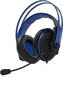 ASUS ゲーミングヘッドセット デュアルマイク 3.5mmジャック ステンレススチール製 53mm ASUS エッセンスドライバー Cerberus ( ケルベロス ) V2 BLUE PS4 対応