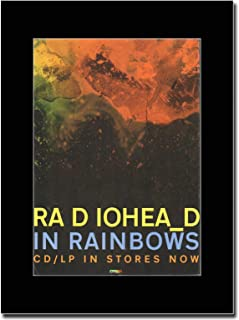 - Radiohead - in Rainbows - Matted Mounted Magazine Promotional Artwork on a Black Mount