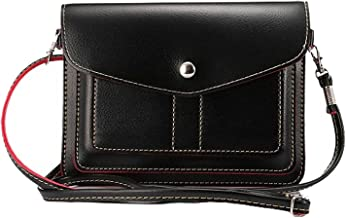 Women's PU Leather 6 Inch Cross-body Shoulder Bag Wallet Pouch for Samsung Galaxy S9+ S9 S8+ S8/Note 8/A5 A7 J5 J7/Nokia 7 Plus 5 6 8/HTC Desire 12/U11 EYEs/U11+ (Black)