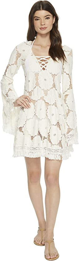 Luli Fama - Flor De Tabaco Bell Sleeve Dress