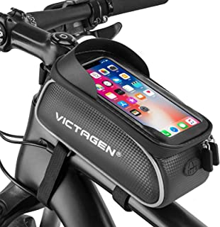 victagen Bike Phone Front Frame Bag, Bicycle Handlebar...