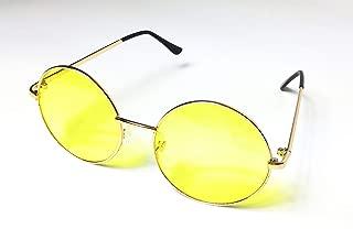 KGM Accessories Lunettes de Soleil aviateur r/éfl/échissantes Style Vintage avec Cadre en Caoutchouc