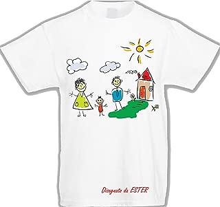 Cappellino Maglietta T-Shirt Bambino con A Grande Davanti Alvin Nome LArcobaleno di Luci