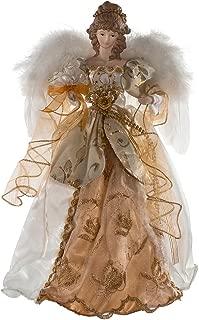 Kurt Adler 17-Inch Ivory and Gold Angel Treetop