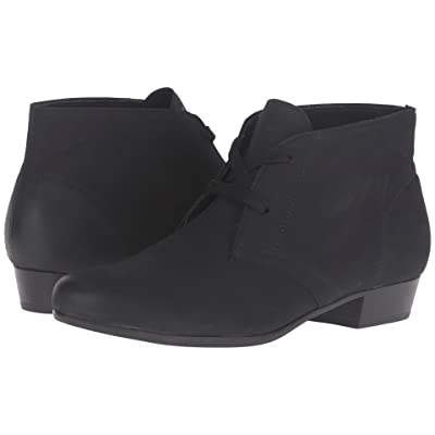 Munro Sloane (Black Distressed Leather) Women