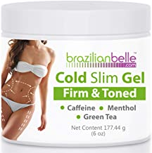 Cellulite Cold Slimming Gel with Caffeine and Green Tea Extract - Reduce Appearance of Cellulite, Stretch Marks, Firming and Toning, Improves Circulation - Quick Absorption- Cryo Gel (1 Jar)