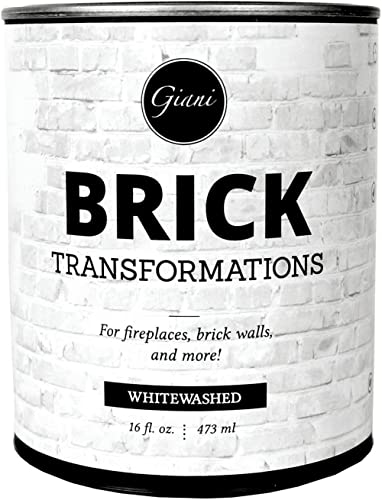 Giani Brick Transformations Whitewash Paint for Brick and Fireplaces- 16 oz Pint