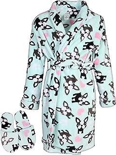 Big Girls Fleece Robe Slippers Set