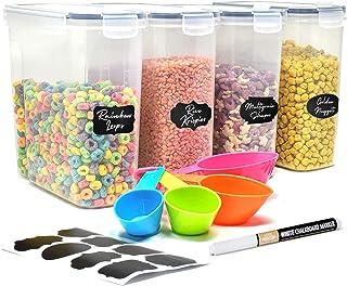 Boite Hermetique Alimentaire facilement empilables - Boîtes alimentaires de stockage avec étiquettes à craie - Lot de boit...