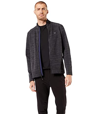 Dockers Full Zip Knit Sweater Jacket (Asphalt Black Spacedye) Men