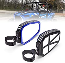 KEMIMOTO UTV Side View Mirrors for Polaris RZR 1000 900 Break Away with Ball Joint High Impact Shatter Proof Tempered Glass Blue Heavy Duty Aluminium Alloy Mirrors