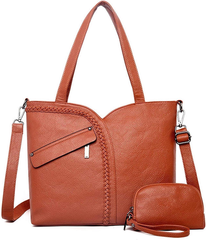 2 Sets Large Capacity Women Bags Shoulder Tote Bags Women Messenger Bags Leather Handbags