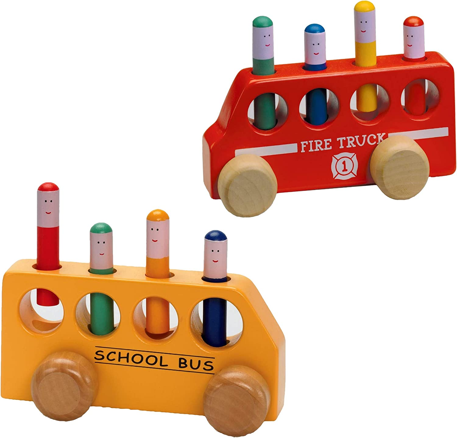 The Challenge the lowest price Original Toy Company Pop Up Truck Bus School Cheap mail order shopping and up Fire