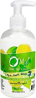 O My! Goat Milk Lotion 8oz - Green Tea & Lemongrass | Made with Farm-Fresh Goat Milk | Paraben Free | Hydrating with Shea ...