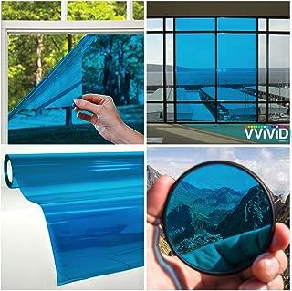 VViViD Transparent Colorful Vinyl Window Tinting Sheets (1.49ft x 5ft, Blue)