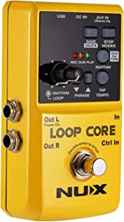 Asmuse Nux Loop Core Guitar Looper Effect Pedal Recording 6 Hours 99 User Memories Drum Patterns with Tap Tempo Unlimited Overdub