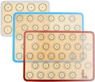 Tapis de four en silicone pour le biscuit et macaron -trois pièces/ensemble Doublures de plateux de four anti-adhésif pour...