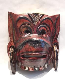 Wooden Hanoman Monkey Mask Hand Carved Wood Bali Wall Decor Art #N3407