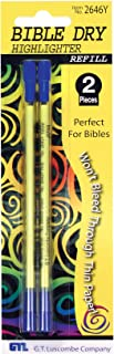 Bible Dry Highlighter Refills - (2) Yellow Carded