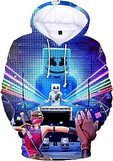 OLIPHEE 3D Felpe con Cappuccio Stampa di DJ Felpa Sportiva con 3D Stampa di Diversi Colori Felpa Fantastica per Bambini e ...