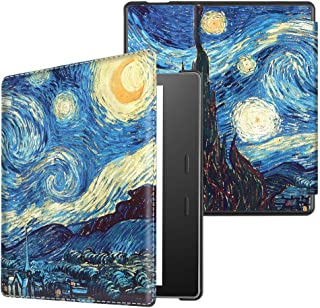 CaseBot Vegan Leather Case for Kindle Oasis (10th and 9th Gen, 2019 and 2017 Release) - Slim Fit Protective Cover, Starry Night
