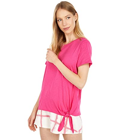 Calvin Klein Short Sleeve Top with Tie Front