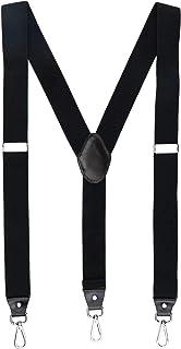 Romanlin Mens Suspenders for Work 3 Swivel Hook Clips Y-back for Groomsmen 3.5cm Width