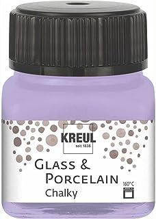 Kreul 16636 – Glass & Porcelain Chalky Sweet Lavender – Verre doux – Peinture à base d'eau, séchage rapide, opaque